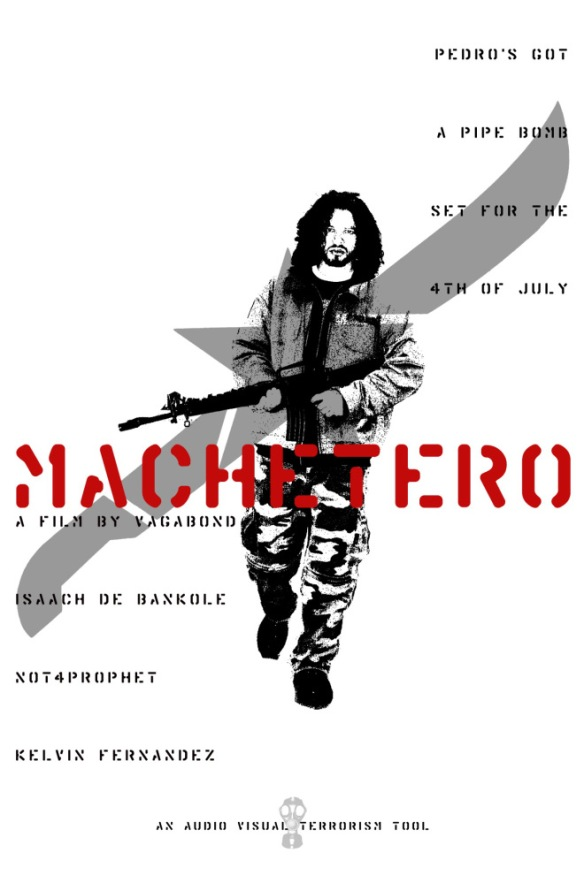 The first version of the MACHETERO poster by vagabond ©